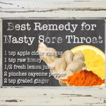 Best Remedy for Nasty Sore Throat